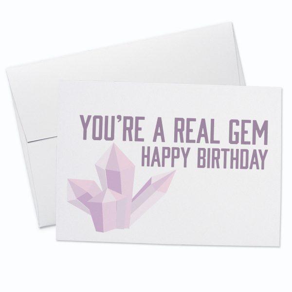 Happy Birthday Gem Card
