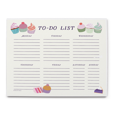 Desserts Desk Calendar