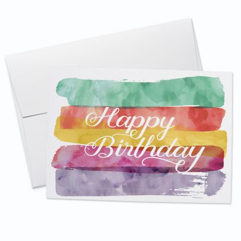 Birthday Watercolour Card