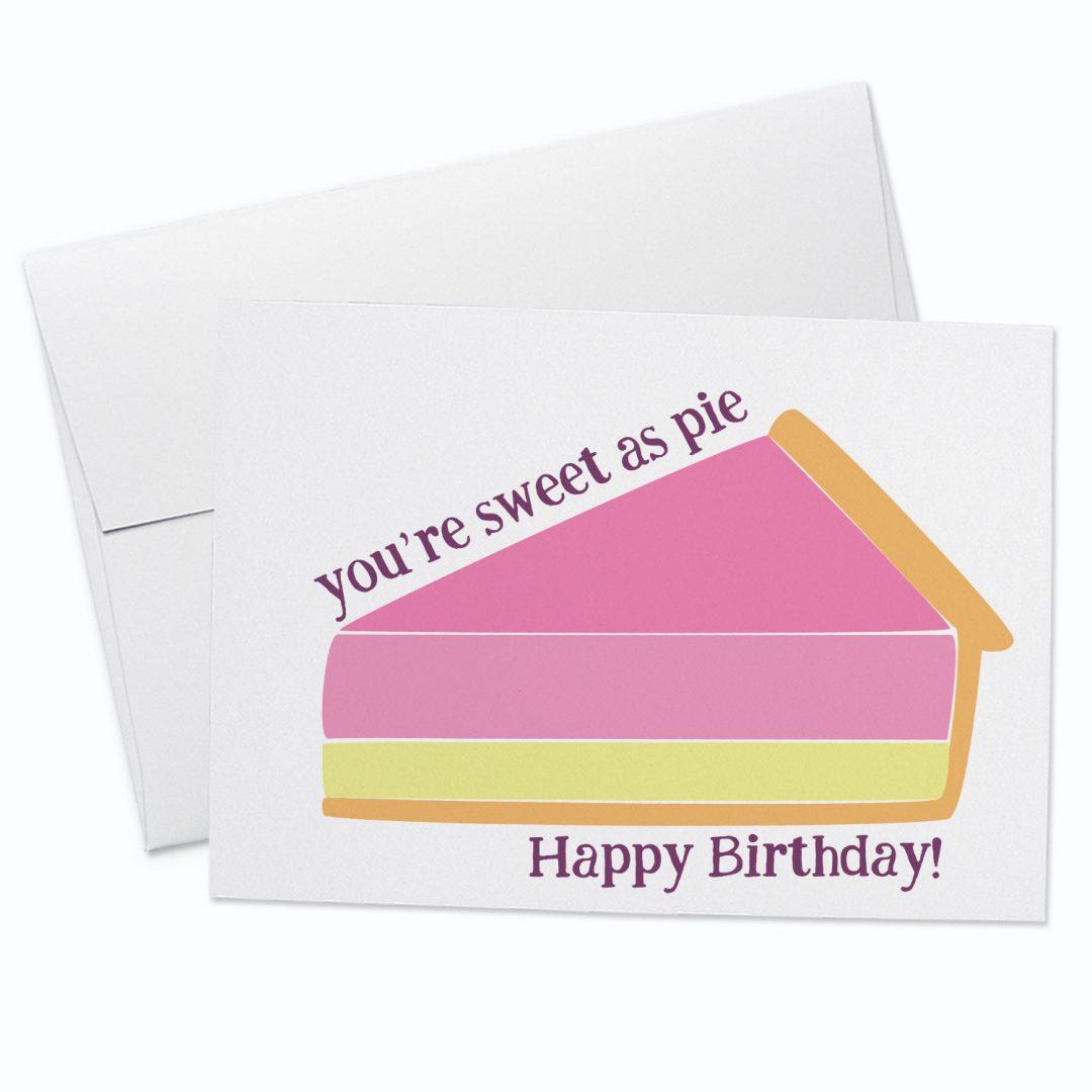Sweet as Pie Birthday Card