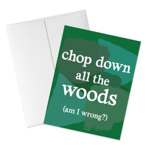 Woods quote card