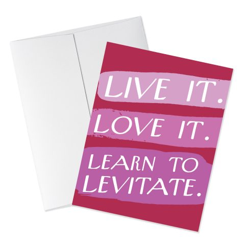 Levitate quote card