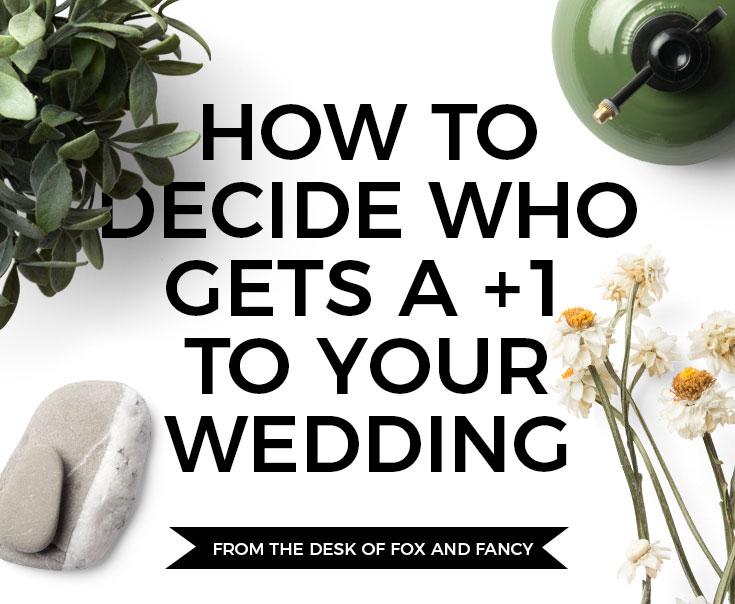 Wedding +1's