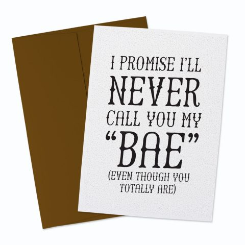 Bae Greeting Card
