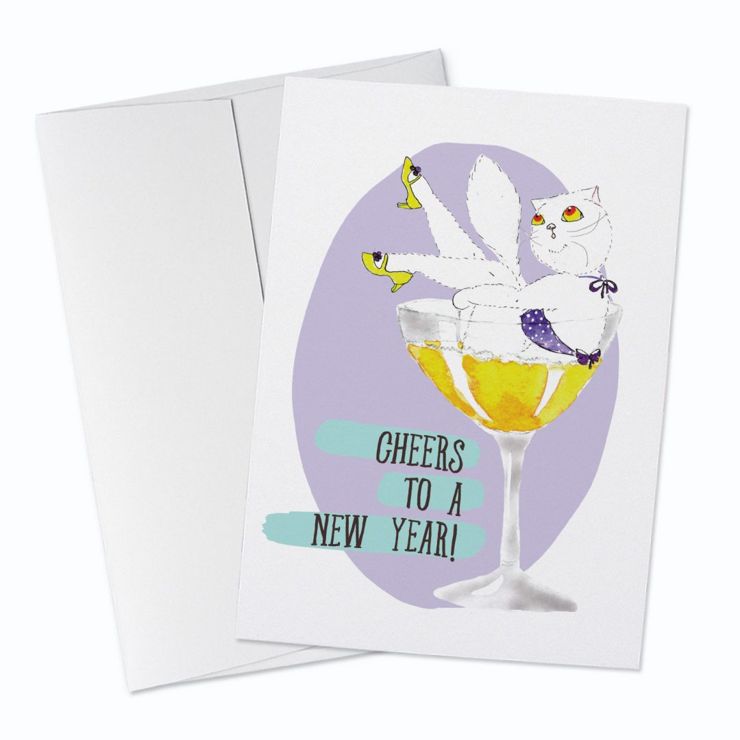 New Years Greeting Card