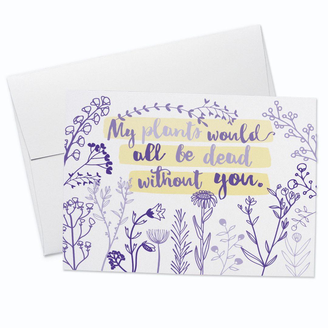 Dead Plants Greeting Card