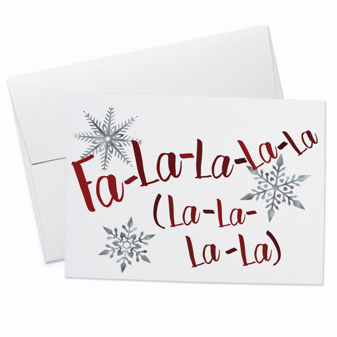Fa La La Christmas Card