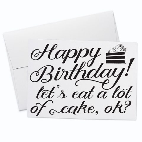 Happy Birthday Cake Greeting Card
