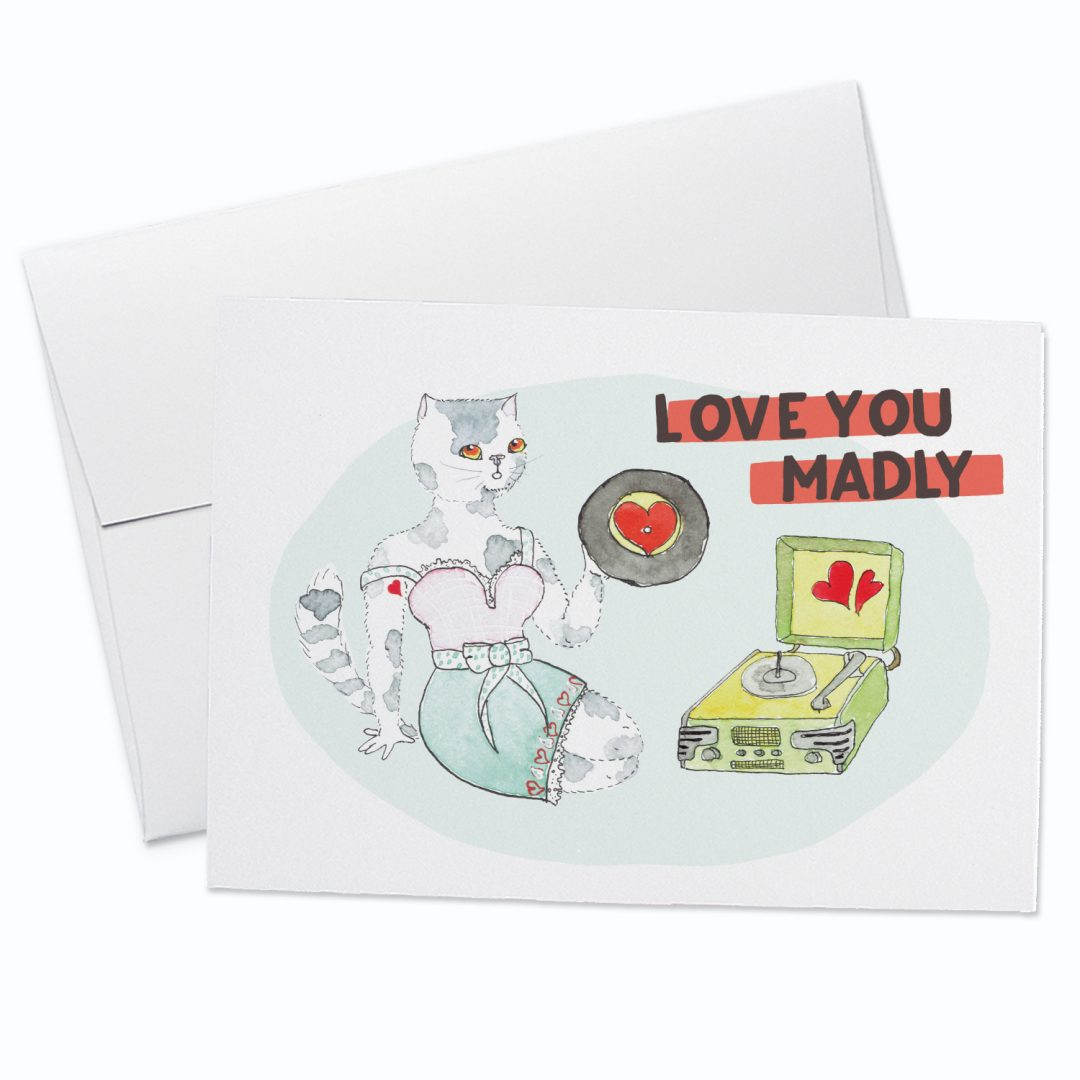 Love You Madly Greeting Card