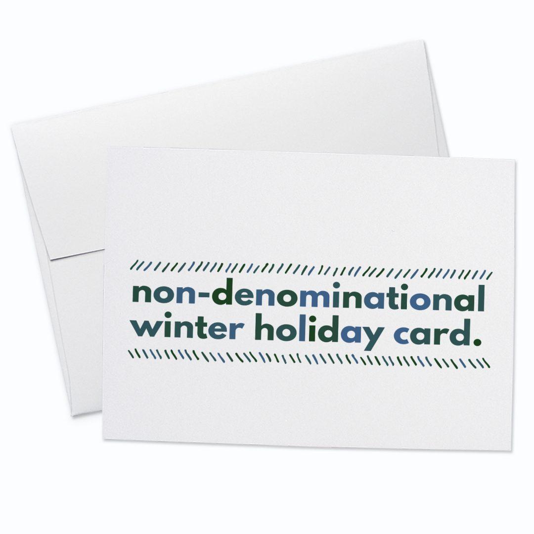 Non Denominational Greeting Card
