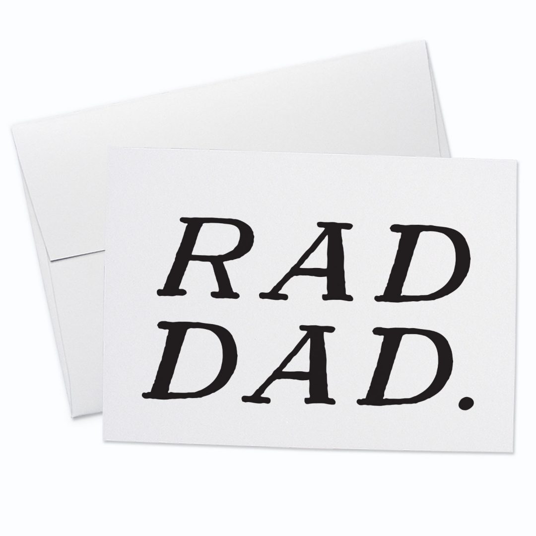 Rad Dad Greeting Card