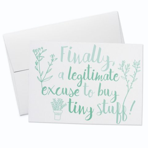 Tiny Stuff Baby Greeting Card