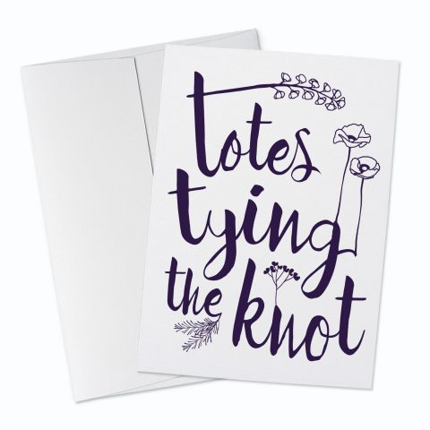 Tying the Knot Greeting Card