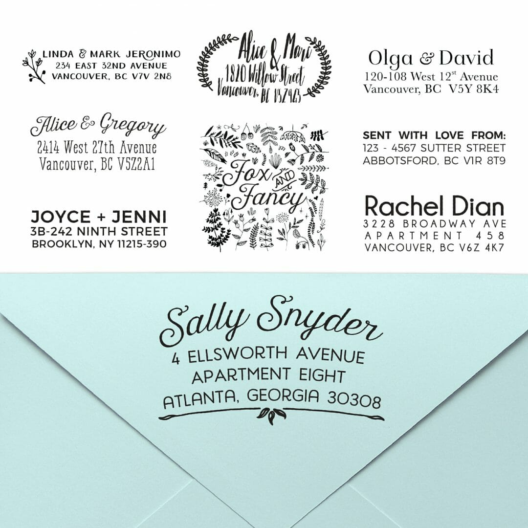 Custom Address Stamp Design Fox Fancy