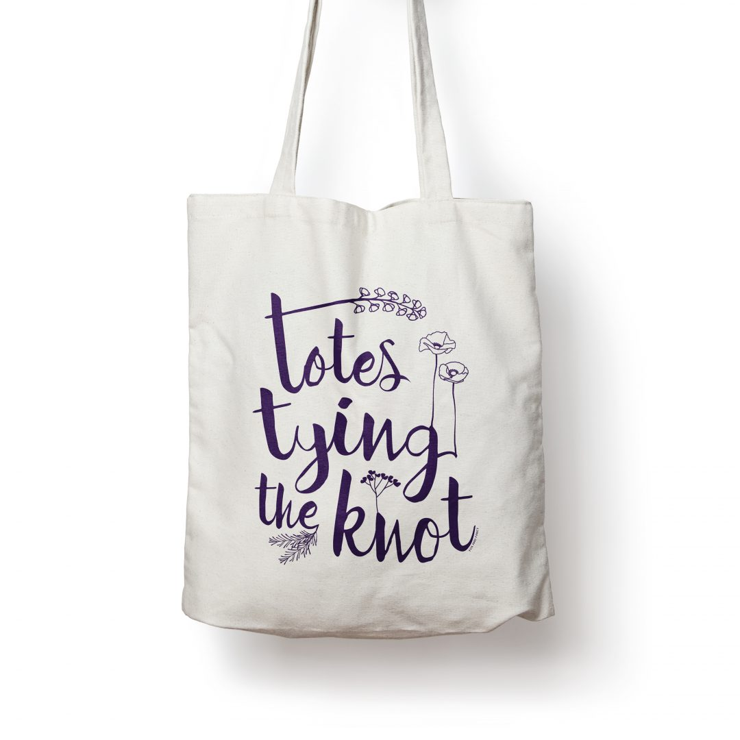 totes tying the knot totebag fox and fancy